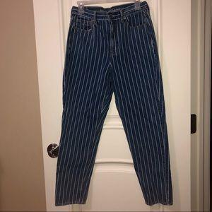 American Eagle Striped Mom Jeans
